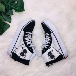 Vans Peanut Snoopy Hi Top Sneakers